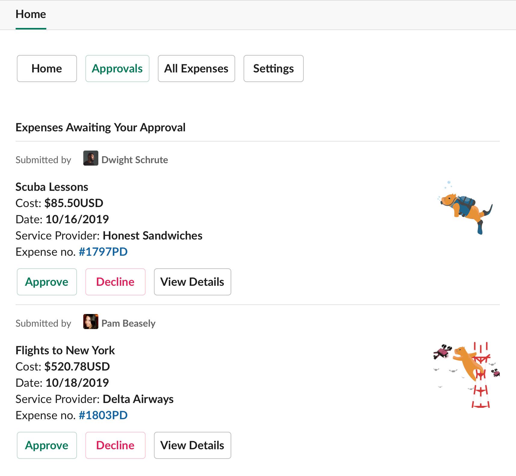 app home tab navigation