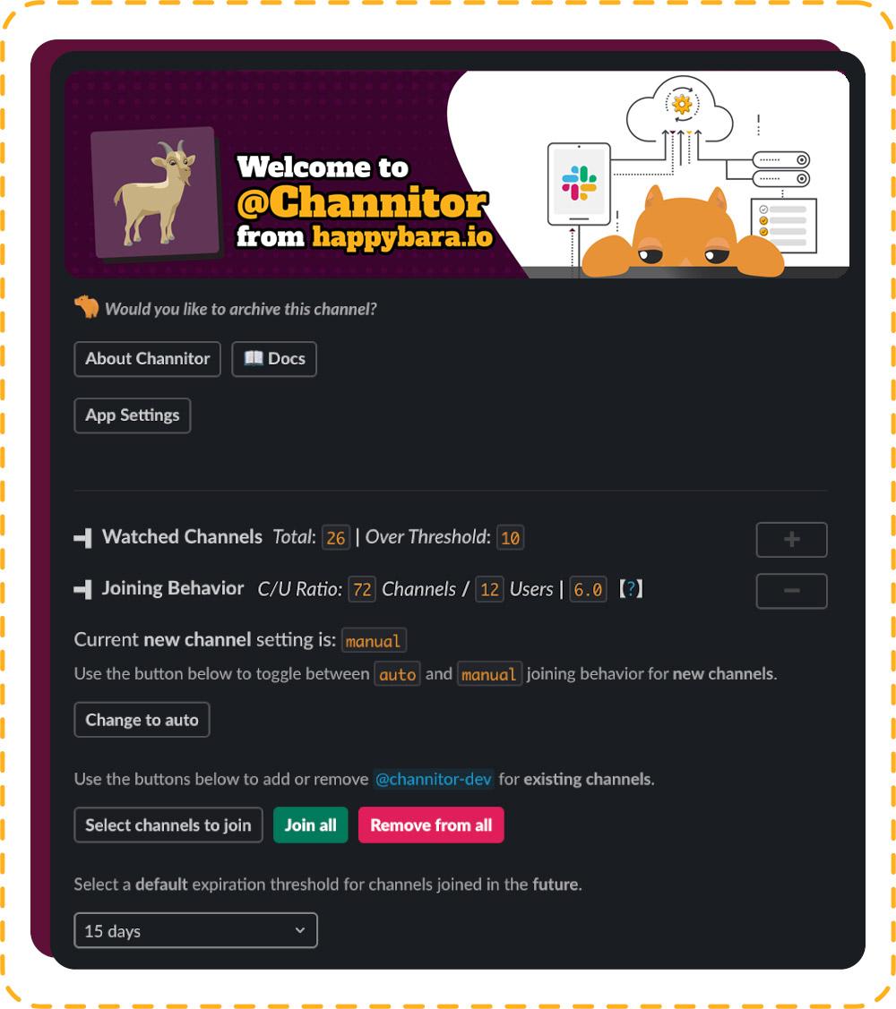 manage slack channels