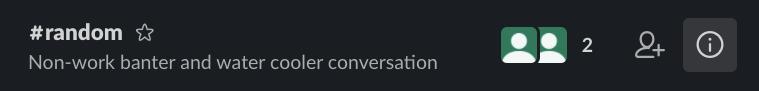 Slack information button to expand menu