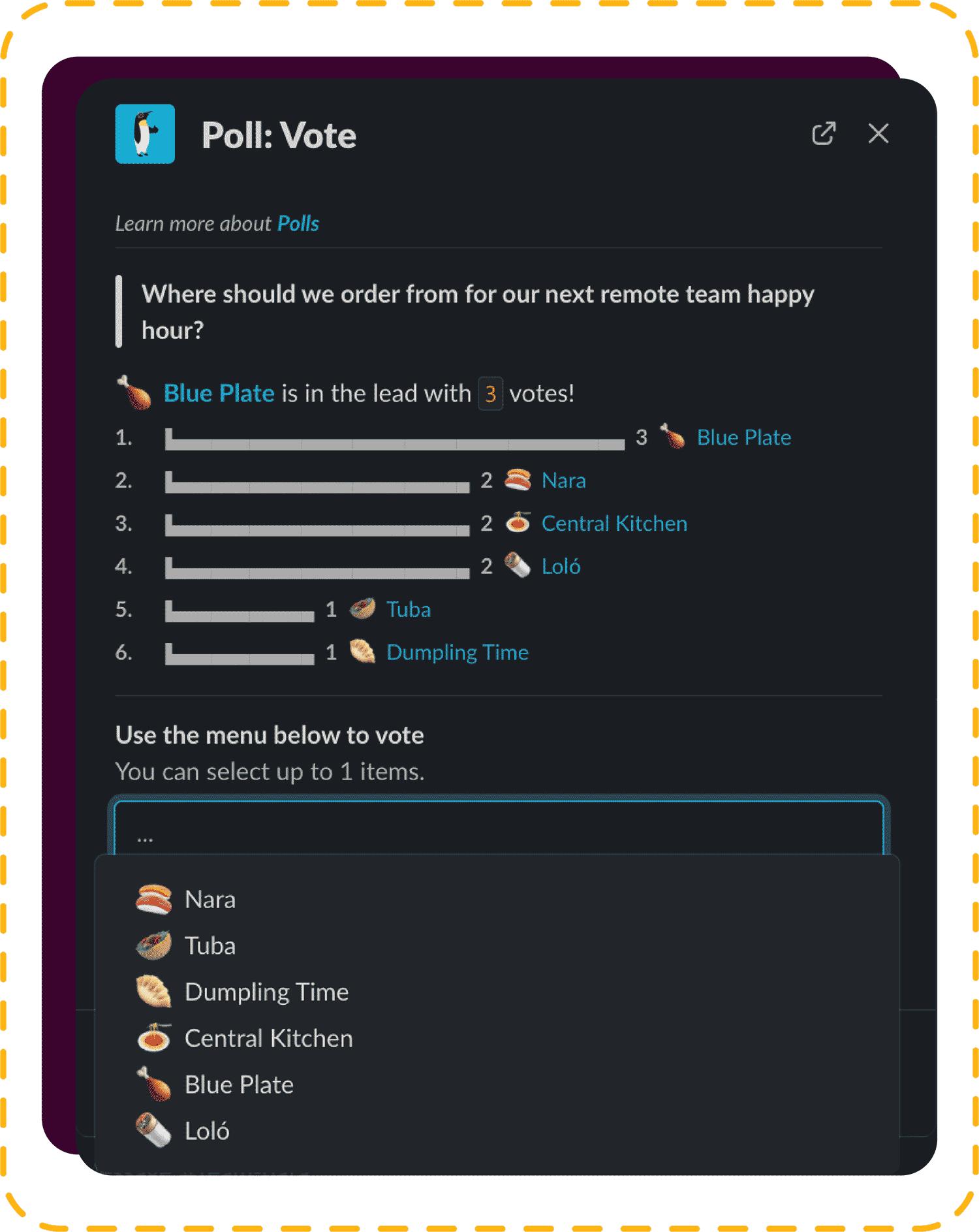 Proper polls screen